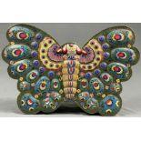 Cloisonné Papillon Schatulle mit Deckel.