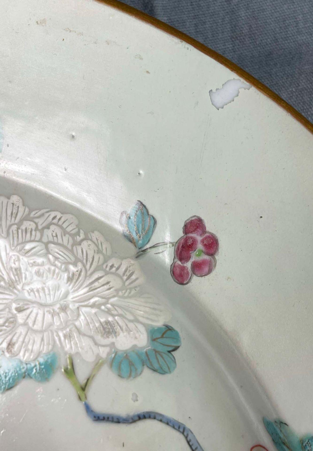 2 Platten. Porzellan. Wohl China antik. - Image 4 of 16