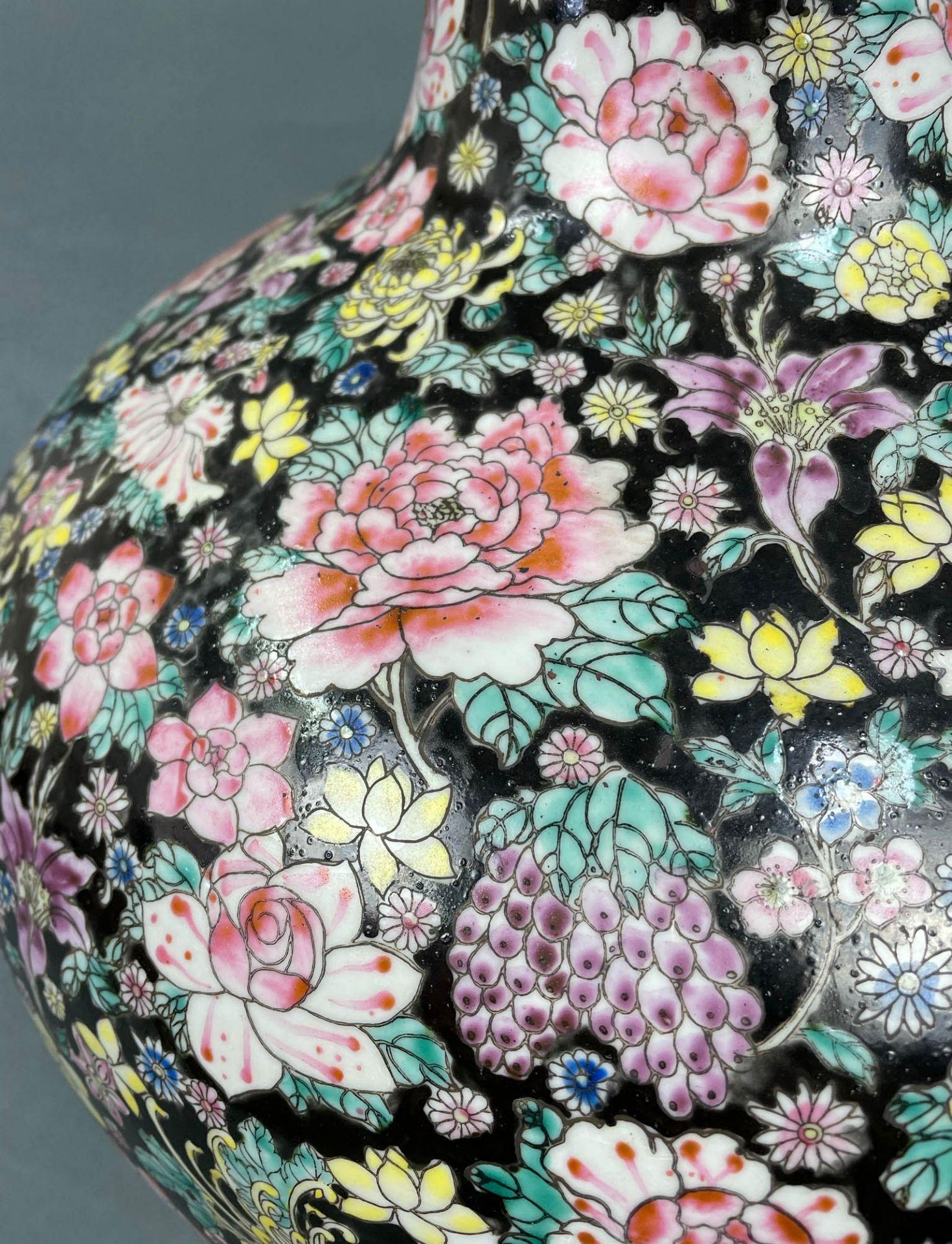 China. Porzellan. Vase. Stempelmarke circa 1930 - 1950. 53 cm hoch. - Image 9 of 20