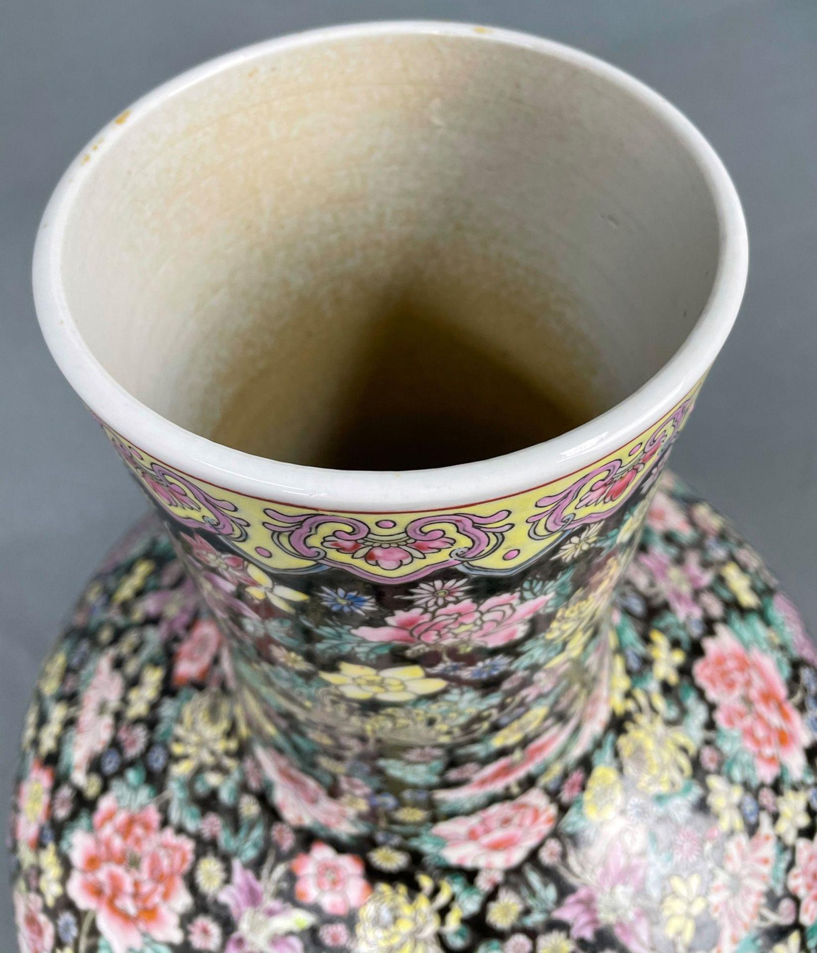 China. Porzellan. Vase. Stempelmarke circa 1930 - 1950. 53 cm hoch. - Image 13 of 20