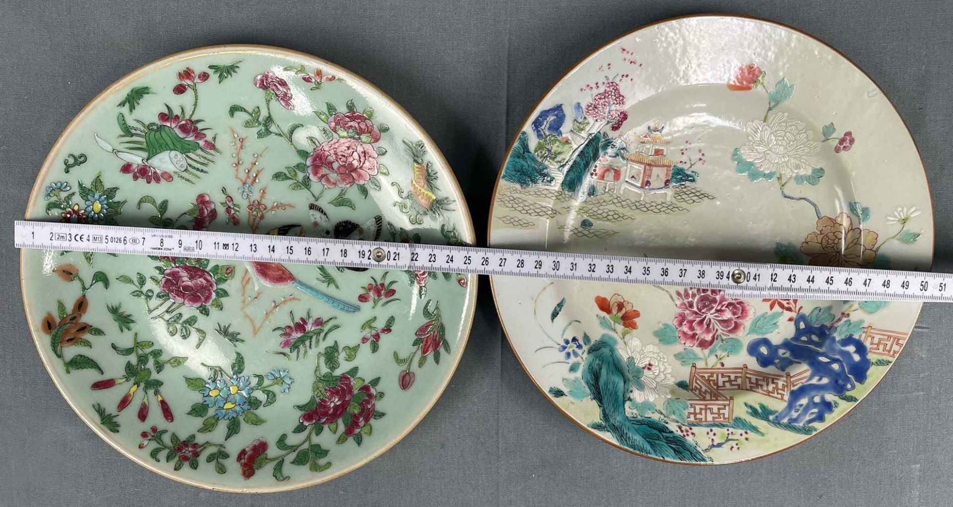 2 Platten. Porzellan. Wohl China antik. - Image 16 of 16