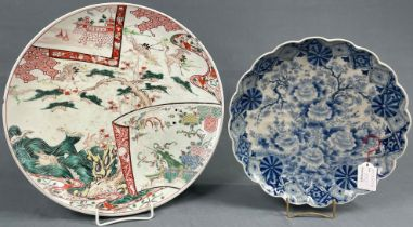 2 Platten Porzellan. Wohl China antik.