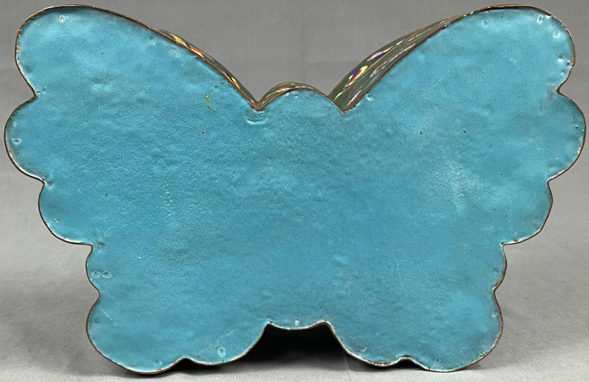 Cloisonné Papillon Schatulle mit Deckel. - Image 4 of 12