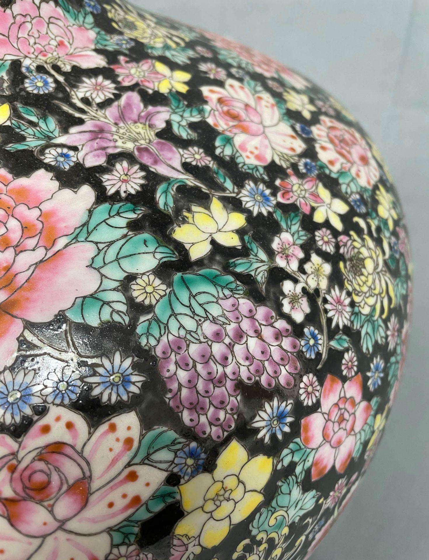 China. Porzellan. Vase. Stempelmarke circa 1930 - 1950. 53 cm hoch. - Image 10 of 20