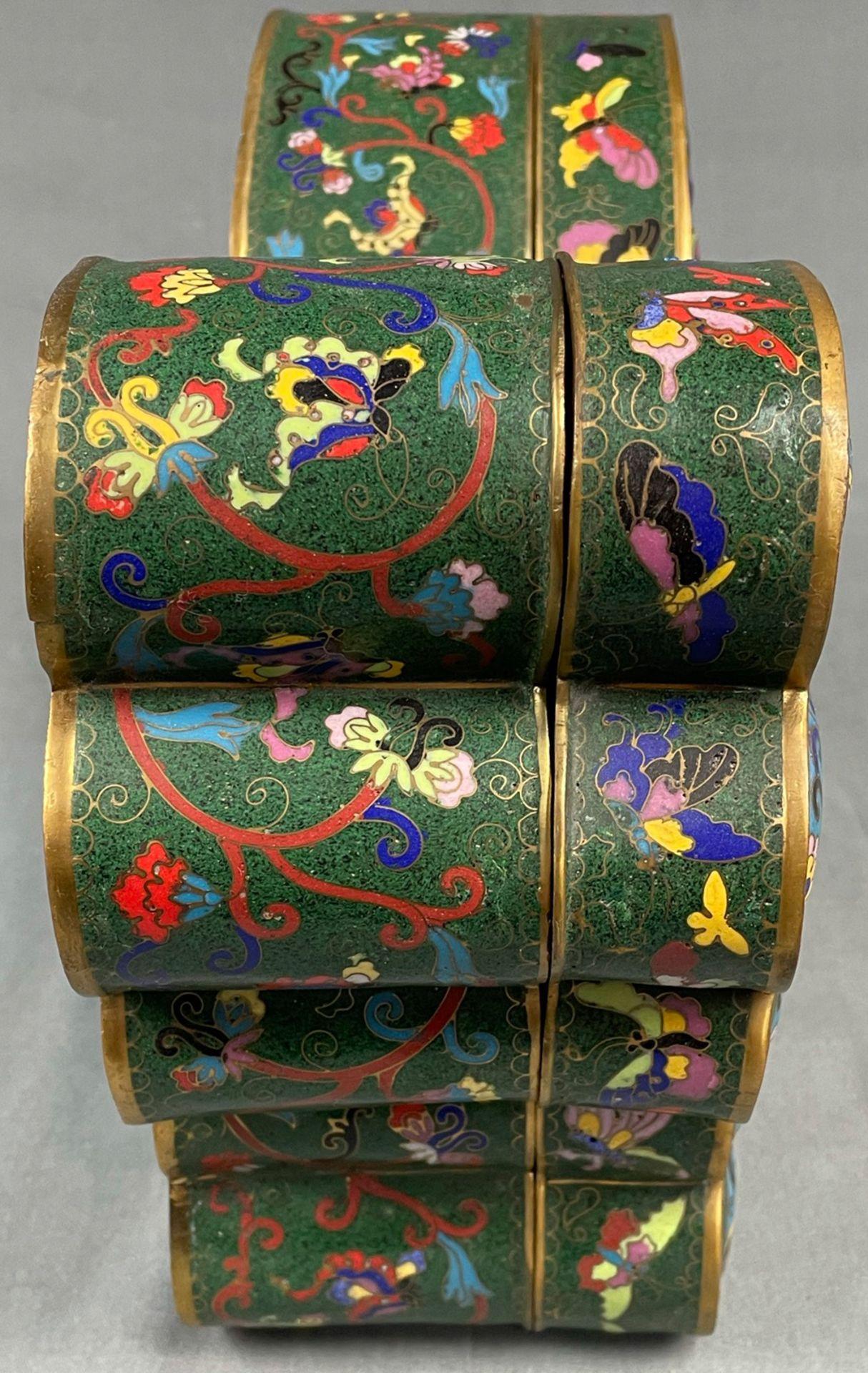 Cloisonné Papillon Schatulle mit Deckel. - Image 5 of 12