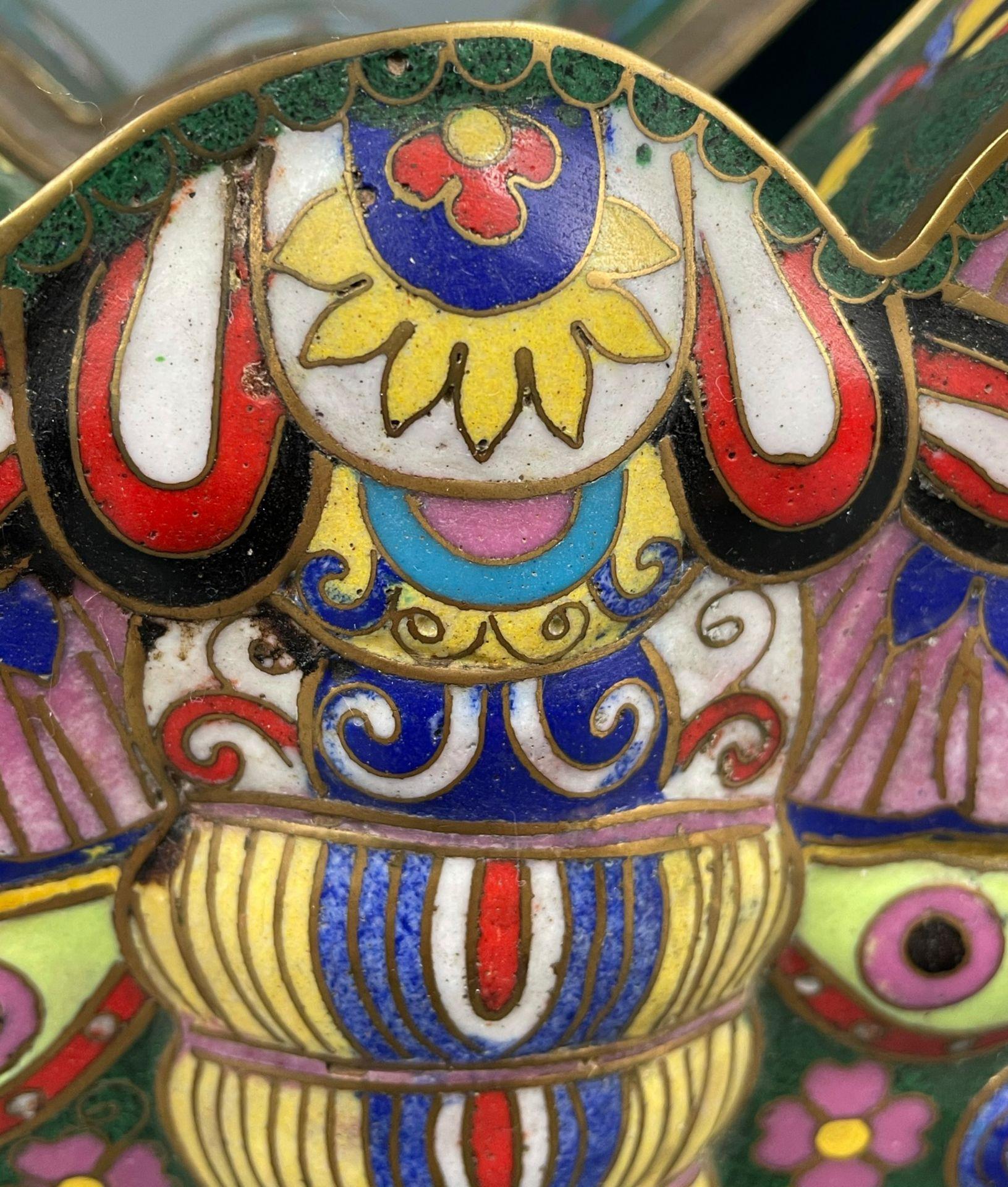 Cloisonné Papillon Schatulle mit Deckel. - Image 10 of 12