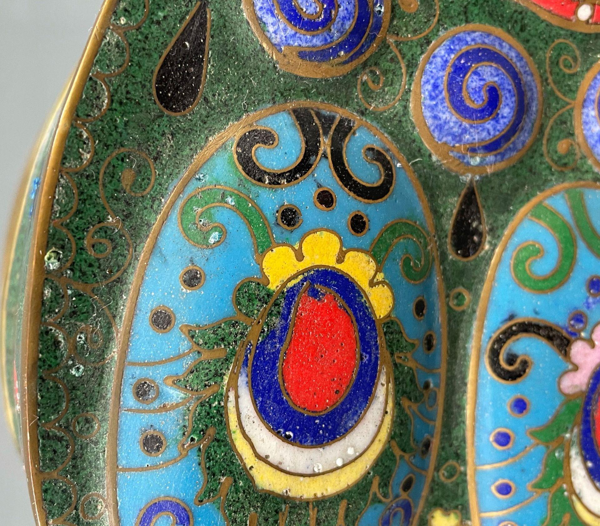 Cloisonné Papillon Schatulle mit Deckel. - Image 11 of 12