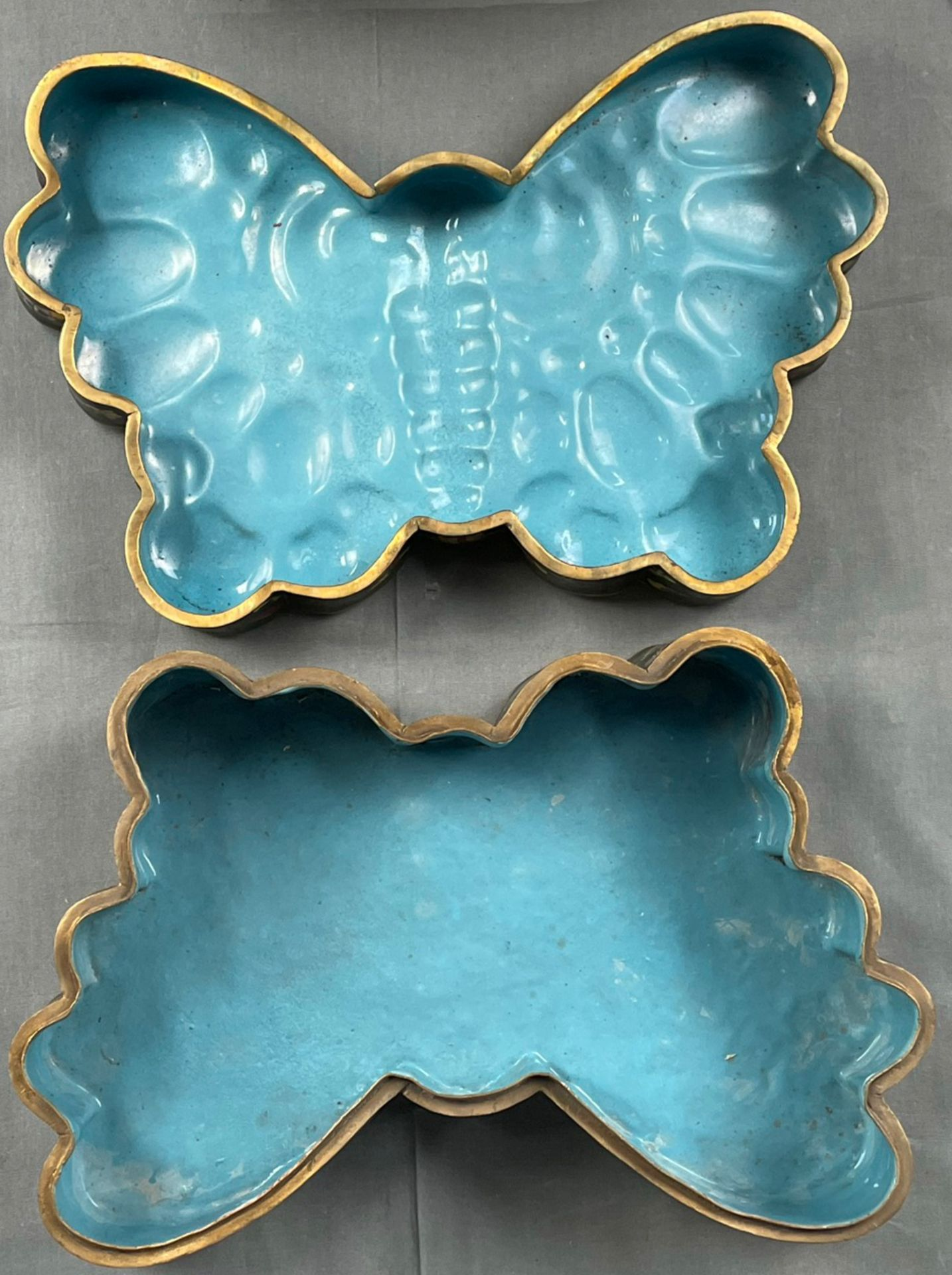 Cloisonné Papillon Schatulle mit Deckel. - Image 7 of 12
