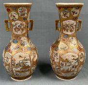 2 Satsuma Vasen. Wohl Japan antik.