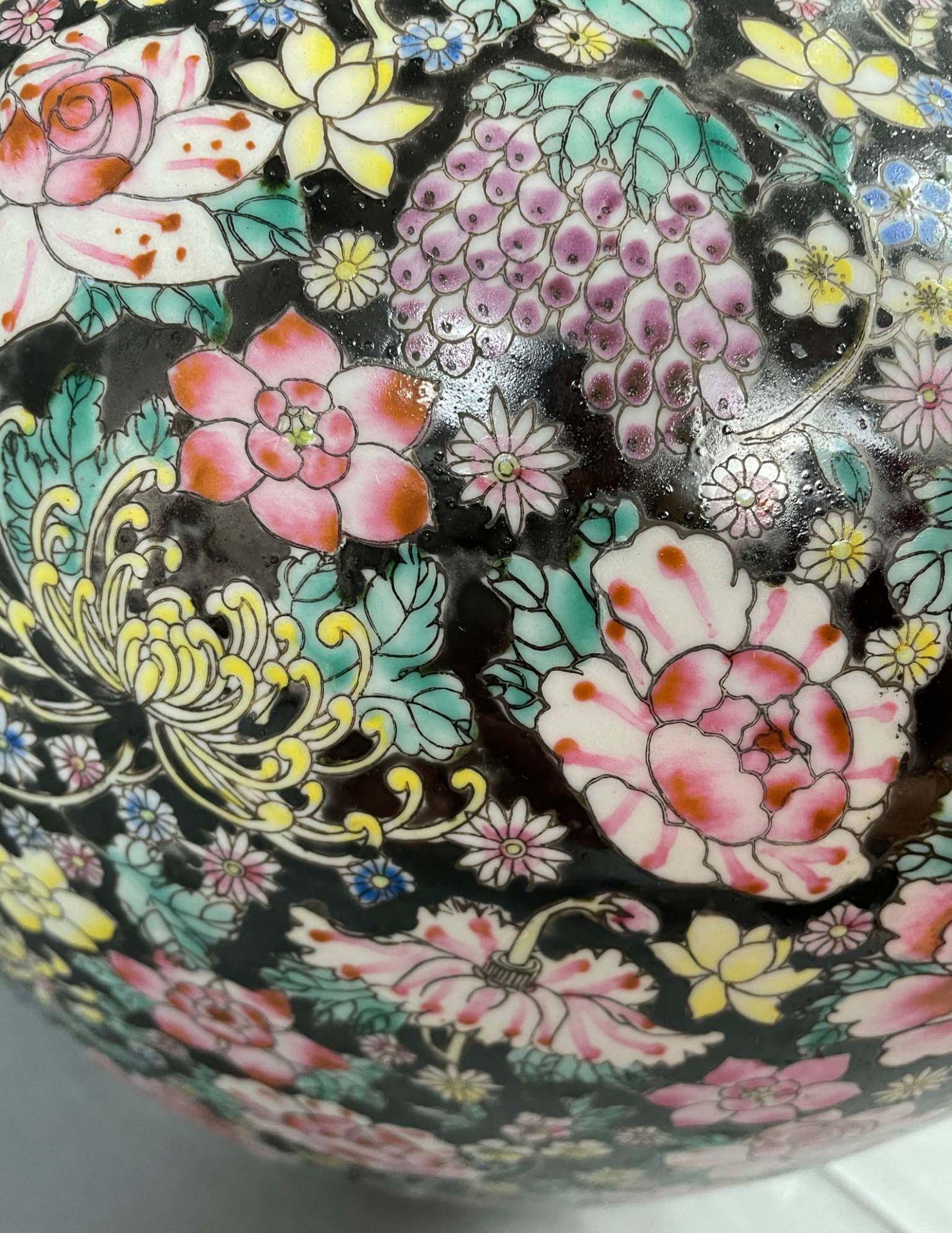 China. Porzellan. Vase. Stempelmarke circa 1930 - 1950. 53 cm hoch. - Image 12 of 20