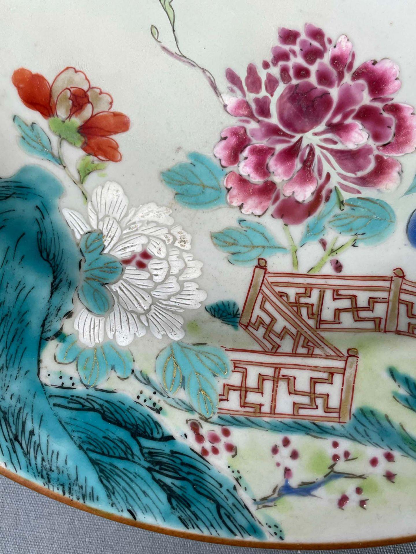 2 Platten. Porzellan. Wohl China antik. - Image 6 of 16