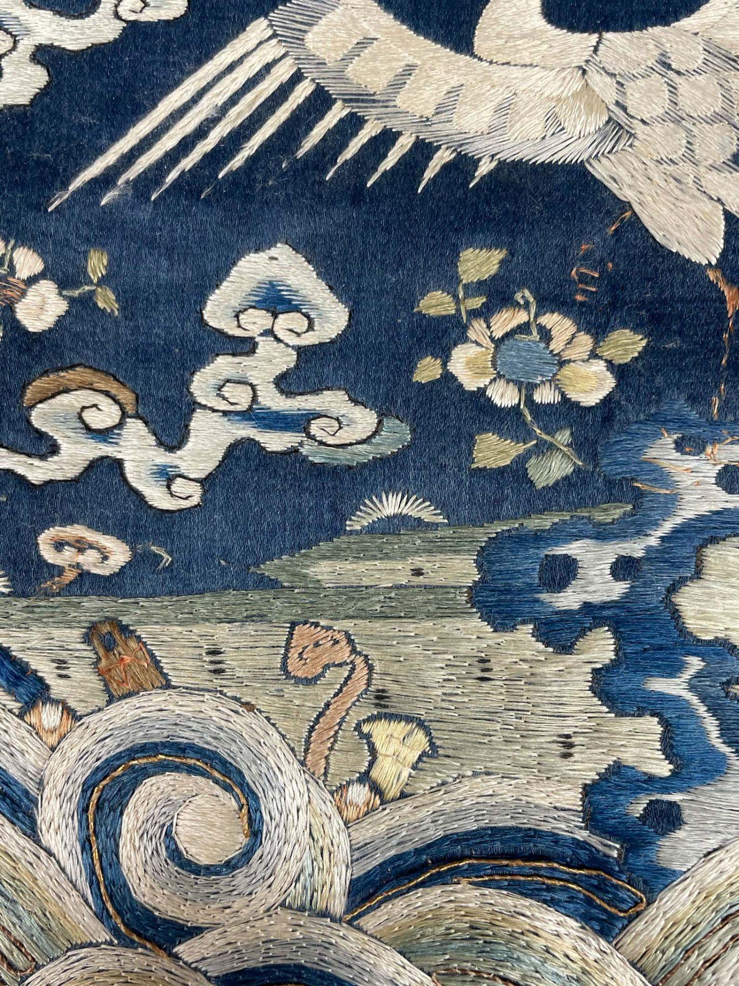 Rangabzeichen. Für die Rückseite einer Robe. Wohl Kranich. - Image 4 of 8