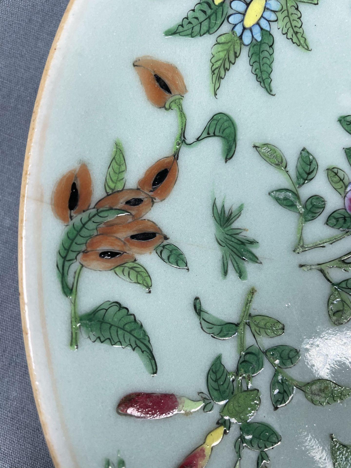 2 Platten. Porzellan. Wohl China antik. - Image 12 of 16