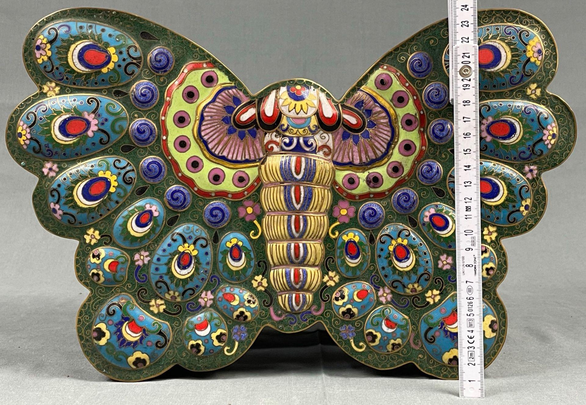 Cloisonné Papillon Schatulle mit Deckel. - Image 9 of 12
