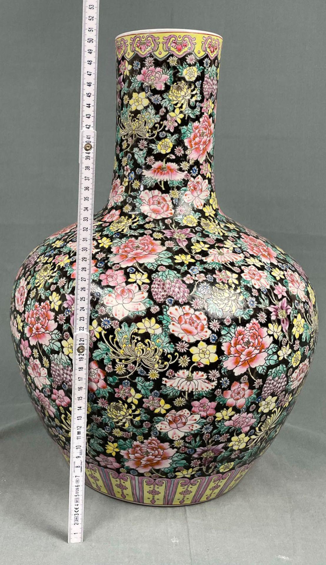 China. Porzellan. Vase. Stempelmarke circa 1930 - 1950. 53 cm hoch. - Image 17 of 20