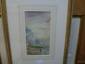 E. Lewis, a pair of coastal watercolours, each signed and dated (19)00; H. Bellingham-Smith,
