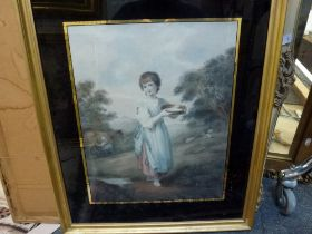 A selection of 14 various framed items comprising prints, watercolours and oils, including a pair of
