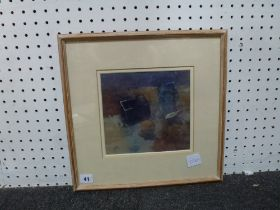 Christa Gaq, Still life at Sampford Spiney, watercolour and gouache, signed (exhibited at the New