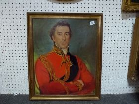 Pauline Clark, oils on canvas, portrait of the Duke of Wellington, signed and dated 1974, and