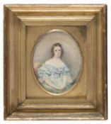 WATERCOLOR OF A WOMAN 19TH CENTURY