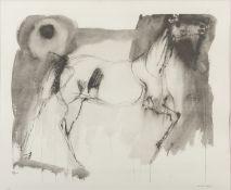 LITOGRAPH OF A HORSE BY BRUNO CASSINARI (1912-1992)