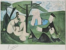 REPRODUCTION OF A LITHOGRAPHY BY PABLO PICASSO