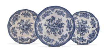 THREE EARTHENWARE DISHES ENGLAND 20TH CENTURY