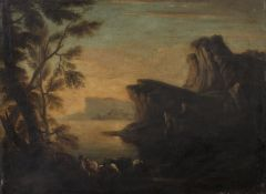 OIL PAINTING OF A LANDSCAPE BY DUTCH SCHOOL 19TH CENTURY