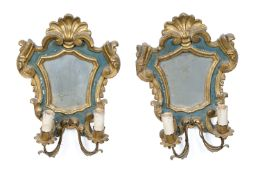 PAIR OF LACQUERED MIRRORS 18TH CENTURY