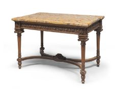 TABLE WITH BROCCATELLO TOP 19TH CENTURY