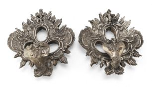 TWO SILVER RELIQUARIES PROBABLY ITALY 19TH CENTURY