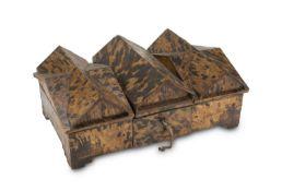 WOOD AND TURTLE TEA BOX