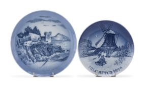 TWO CHRISTMAS DISHES 20TH CENTURY