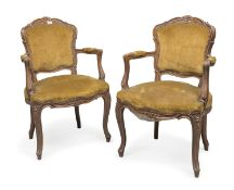 PAIR OF WOODEN ARMCHAIRS 20TH CENTURY