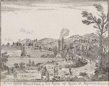 ENGRAVING VIA APPIA BY FRANCESCO SEGONI 18TH CENTURY