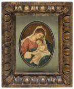MINIATURE WITH ANTIQUE FRAME EARLY 20TH CENTURY