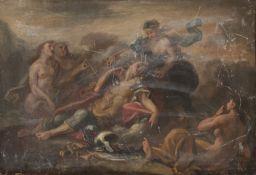 PAIR OF OIL PAINTINGS OF VENUS AND ADONIS OF THE NEAPOLITAN SCHOOL 18TH CENTURY