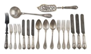 SILVER-PLATED CUTLERY SERVICE GERMANY 20TH CENTURY