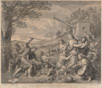 MOSES ENGRAVING BY JEAN AUDRAN (1667-17568