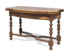 BEAUTIFUL FOLDING TABLE WITH ANTIQUE ELEMENTS