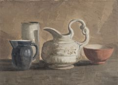 OIL PAINTING OF CERAMICS OF THE 20TH CENTURY