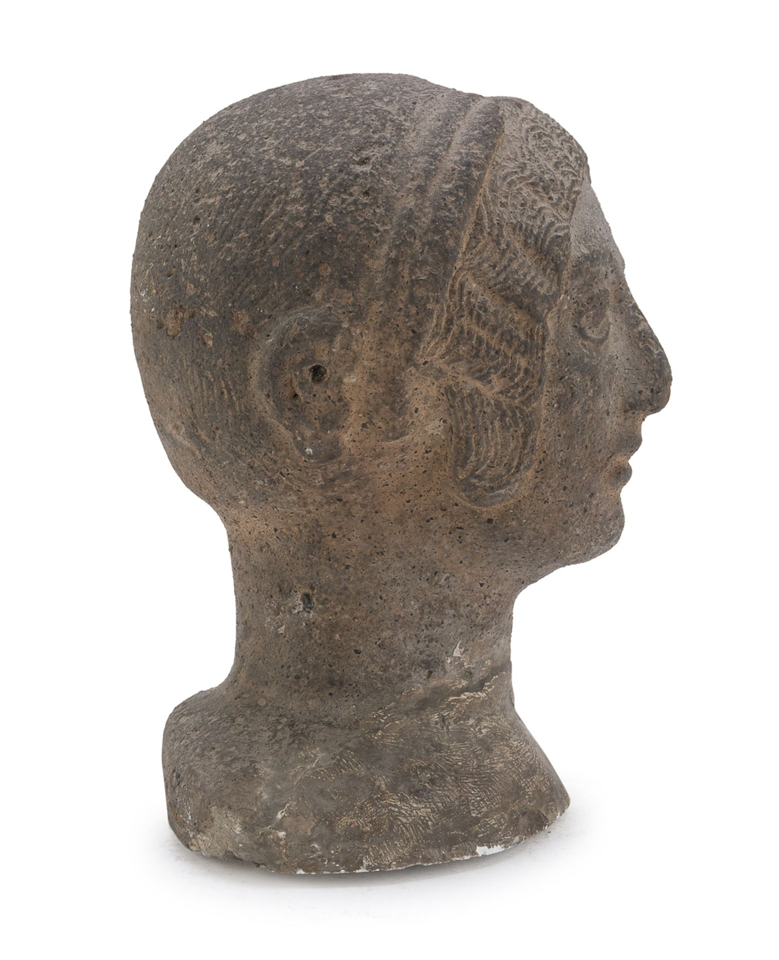FEMALE HEAD ETRUSCAN STYLE 20th CENTURY - Image 2 of 2