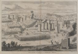 BESIEGED JERUSALEM BY ENGLISH ENGRAVER 18TH CENTURY