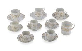 SET OF PORCELAIN CUPS 19TH CENTURY