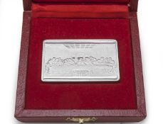 SILVER INGOT WITH BAS-RELIEF OF THE LAST SUPPER