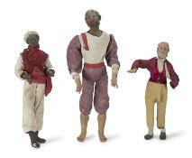 THREE BIG CRIB SHEPHERDS NAPLES 19TH CENTURY
