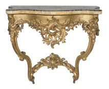 GILTWOOD CONSOLE PIEDMONT OR FRANCE 18TH CENTURY