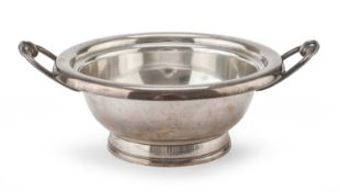 FRENCH SILVER-PLATED TRAY 20TH CENTURY
