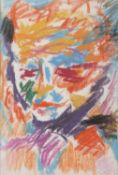 PASTEL DRAWING OF A FACE BY ALDO NATILI