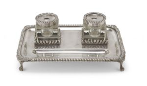 SILVER INKWELL UNITED STATES LATE 19th CENTURY